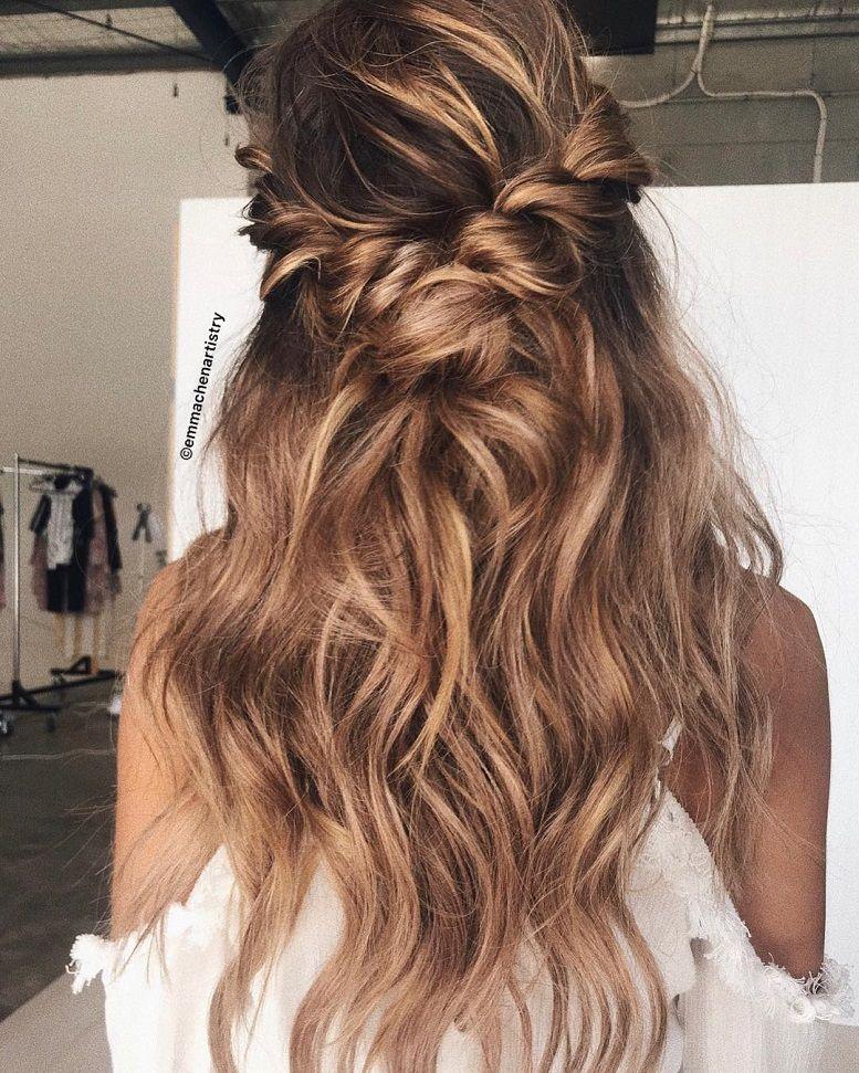 Top 3 Half Up Half Down Wedding Hairstyles To Try: Braid Half Up Half Down 1