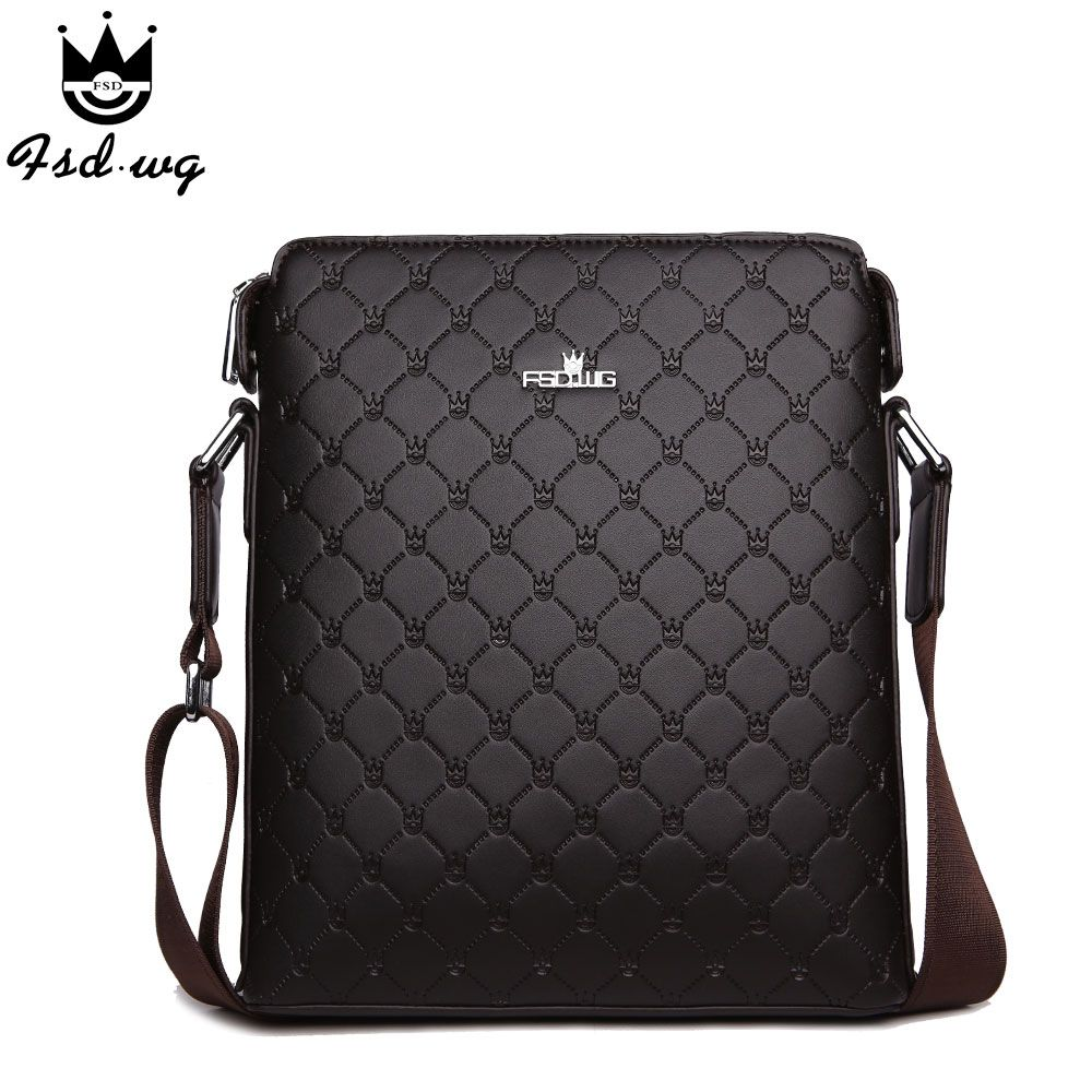 New shoulder bags men's crossbody bag Embossing leather bolsas ...