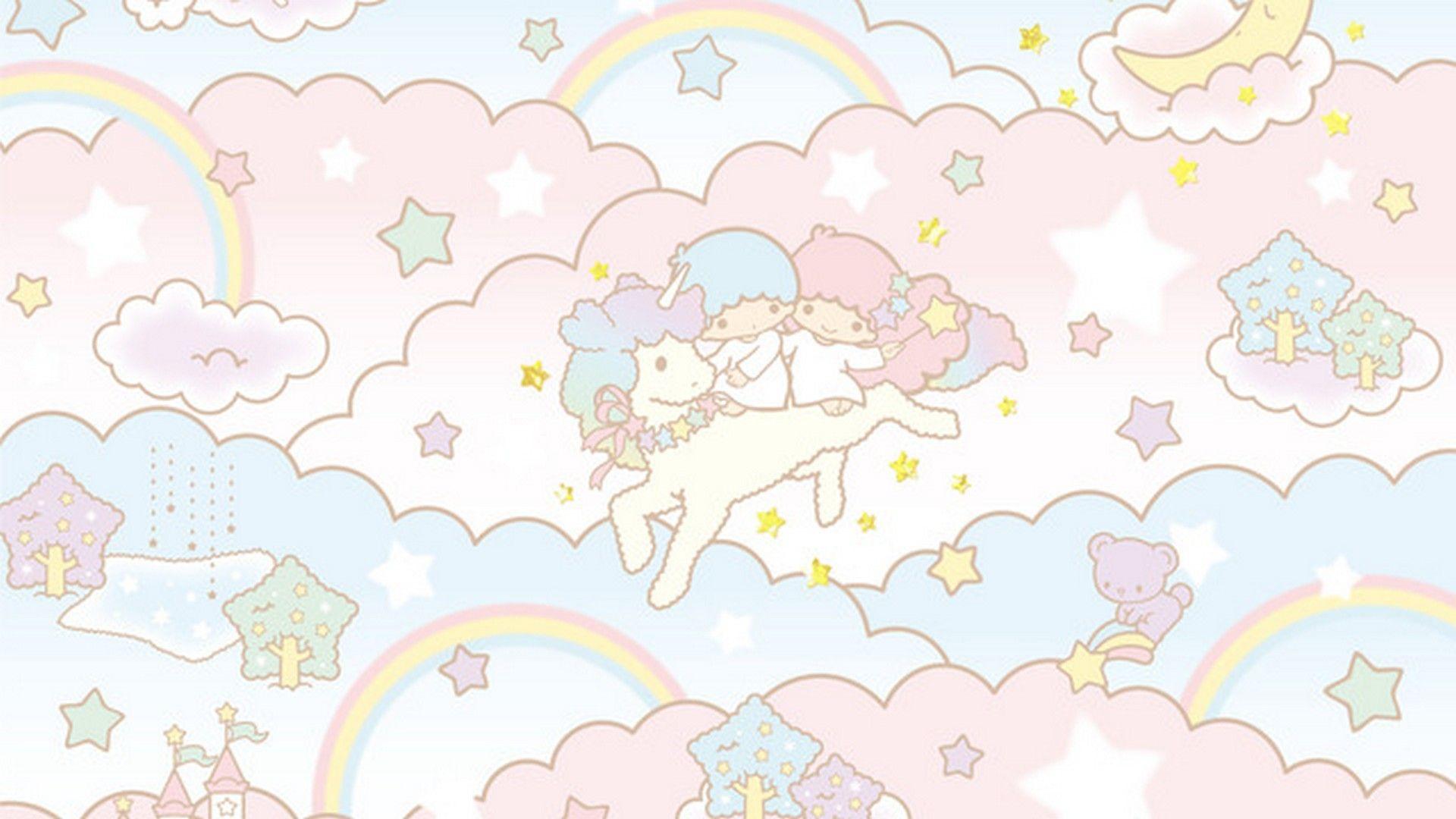 Cute Girly Unicorn Desktop Wallpaper Best Wallpaper Hd In 2020 Little Twin Stars Cute Wallpapers Star Wallpaper