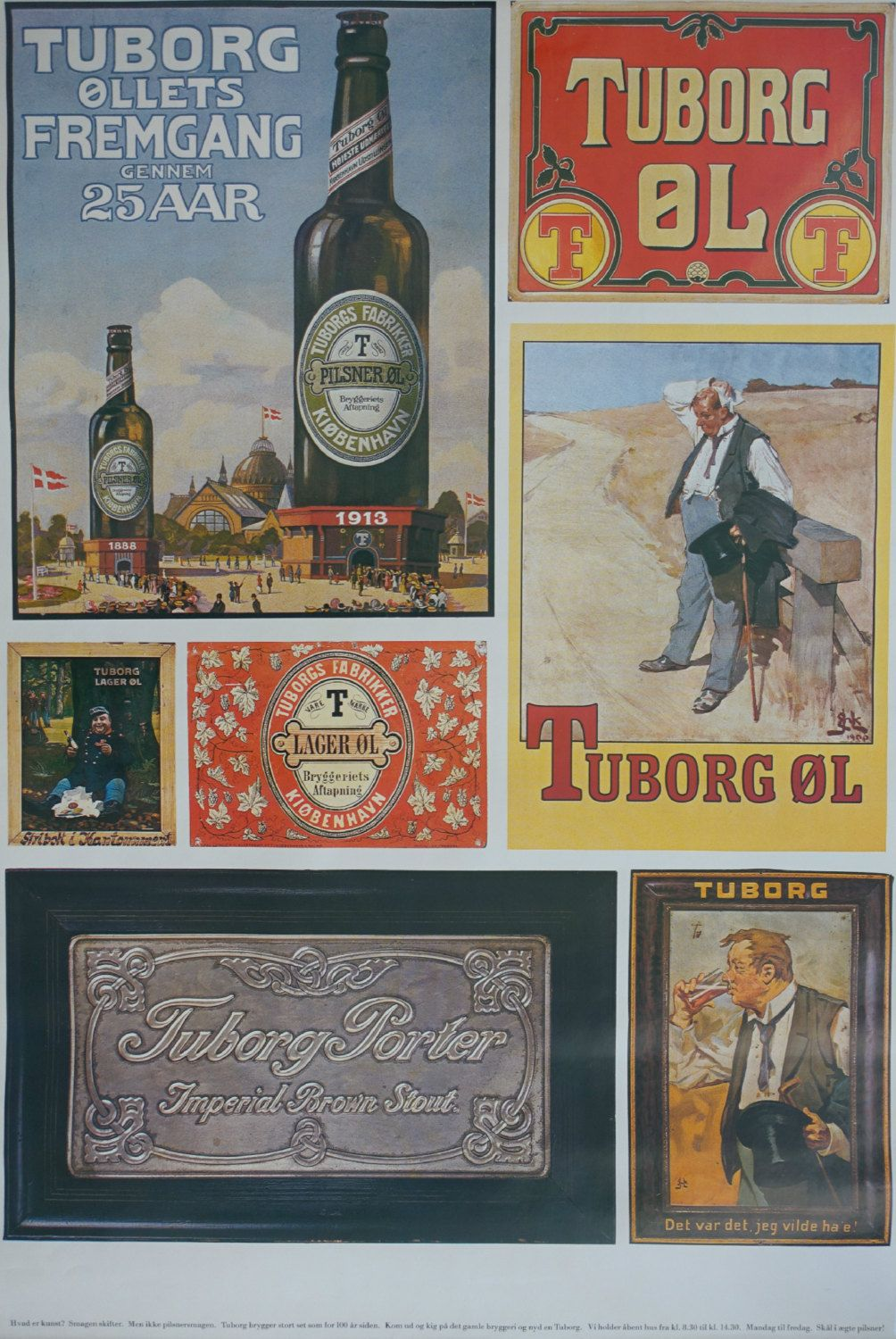 1970s Tuborg Beer Advertisement I Collection Of Old Tuborg Etsy Beer Advertisement Vintage Posters Beer