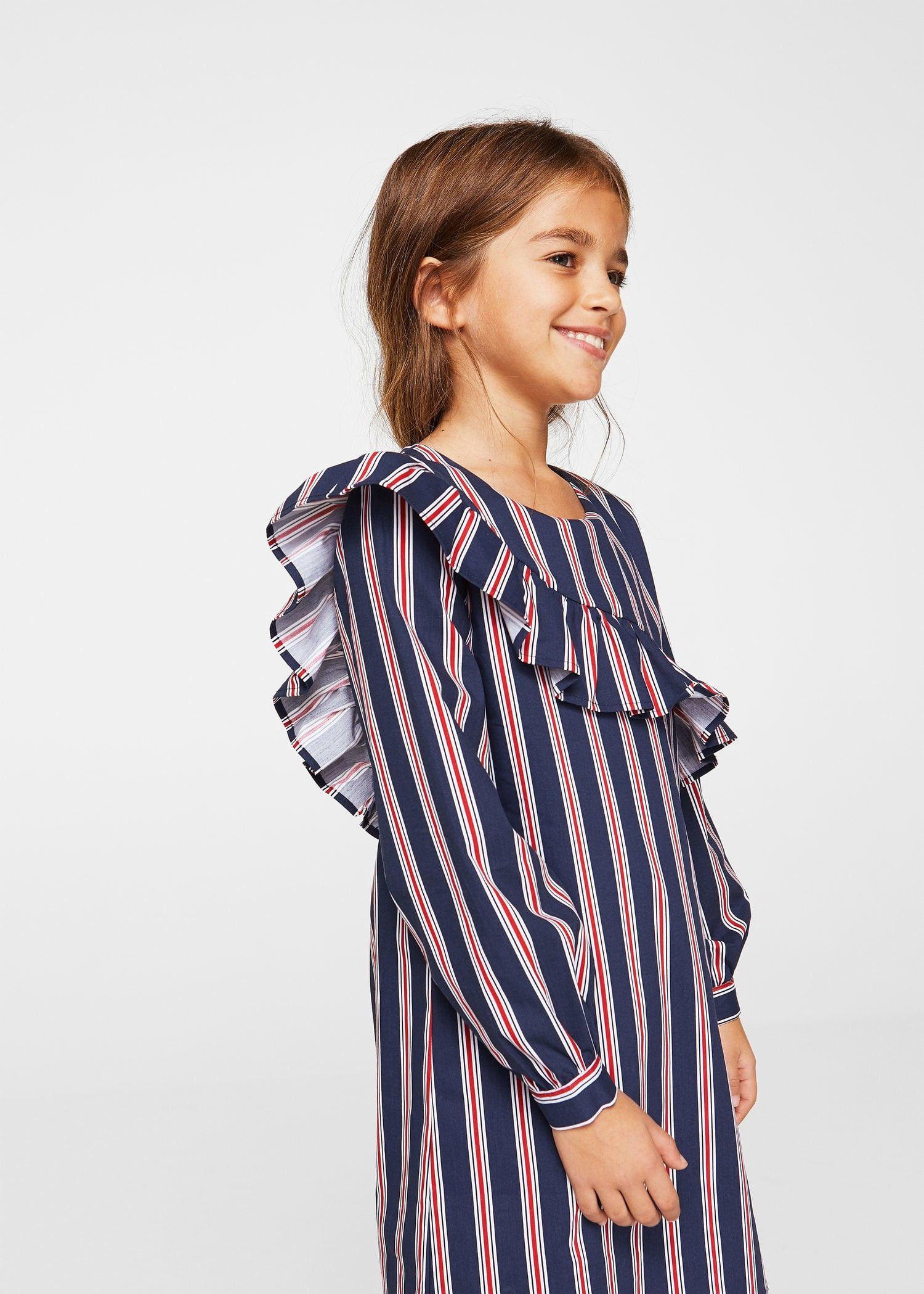 080f417c7 Mango Striped Ruffle Dress - Girls
