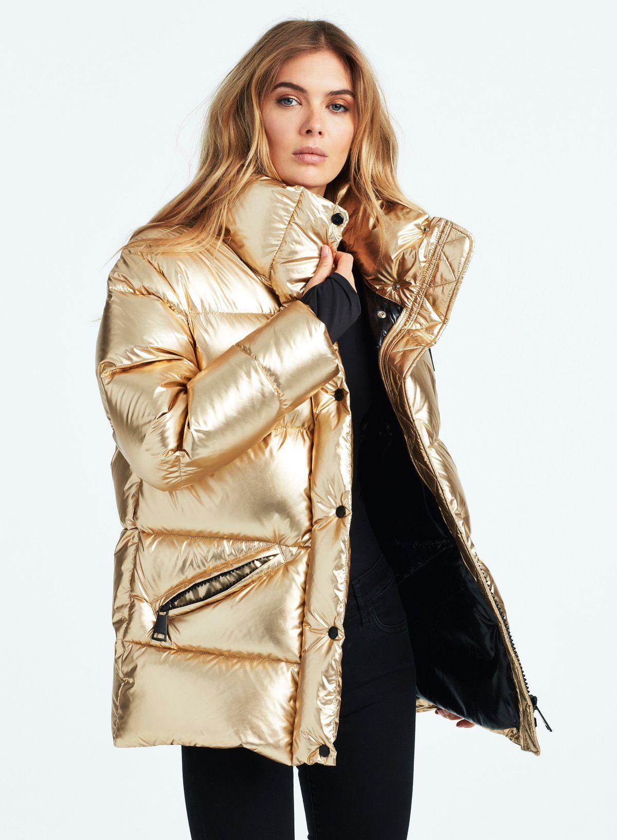 Zoe Gold Jet Gold Jacket Outfit Puffer Jacket Women Outerwear Women [ 1633 x 1200 Pixel ]