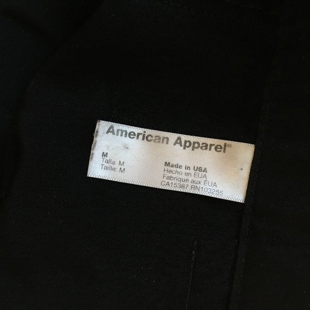 Black trousers from American apparel. Size M. Around 5 cm tailored shortening…