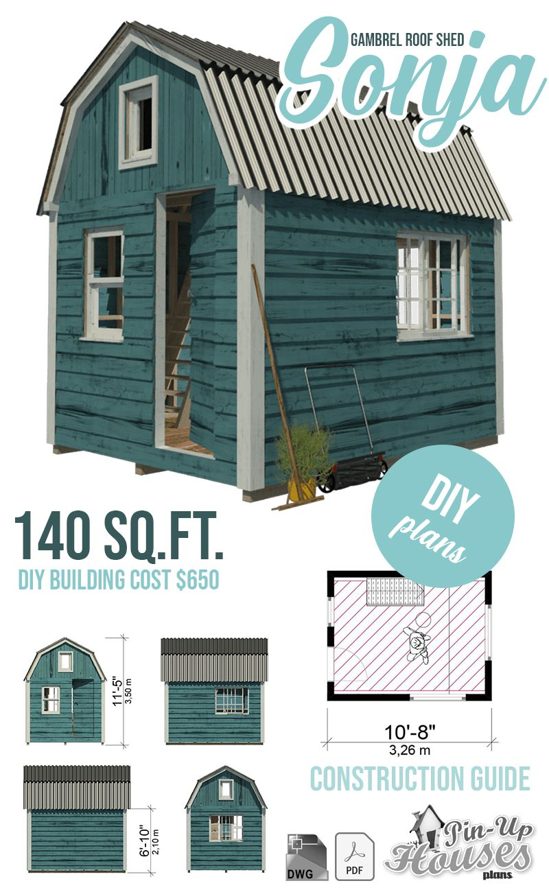 Gambrel Roof Shed Plans In 2020 Gambrel Roof Gambrel Shed