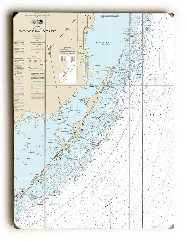 Fl Fowey Rocks To Alligator Reef Florida Keys Fl Nautical Chart