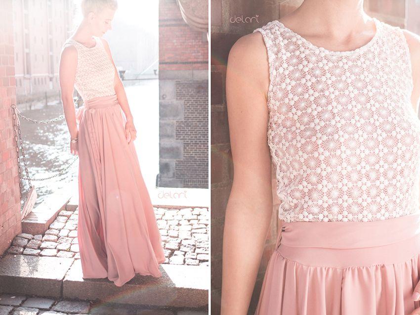 Kleid doppellagig nahen