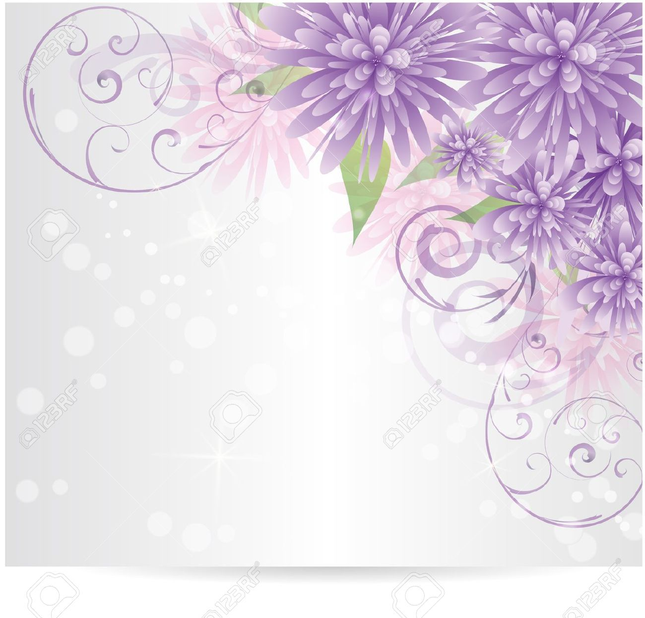 20841501-Background-with-purple-abstract-flowers-and-swirl
