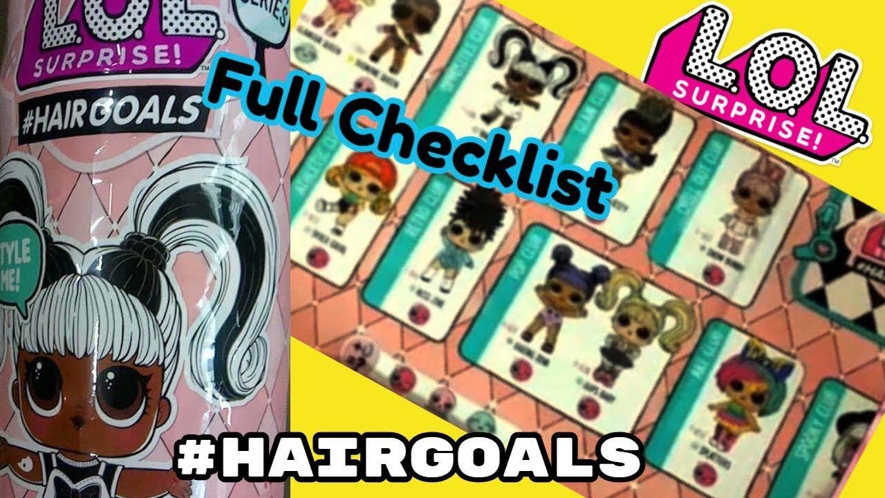 Checklist Lol Surprise Series 5 Hairgoals Series 4 Wave 3 Lol