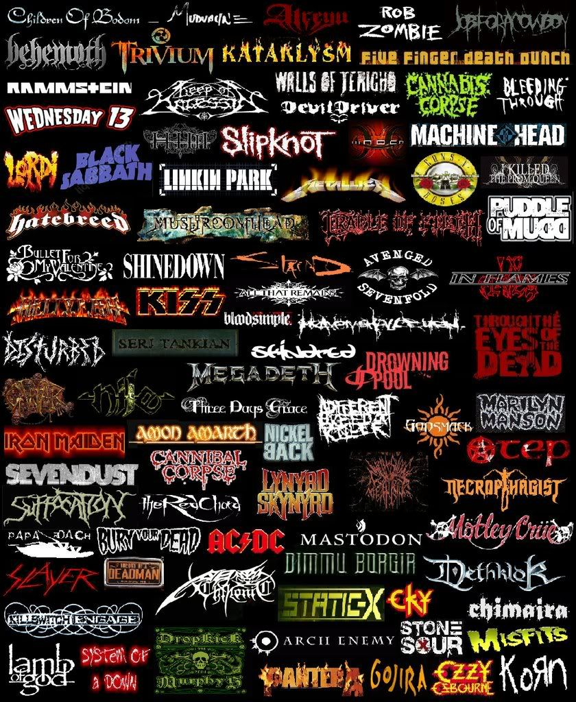 Heavy Metal Music Backgrounds Rock Band Posters Rock Band Logos
