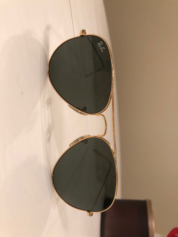 912683b5c62 Ray Ban Aviator Sunglasses RB3025 W3234 Gold  G-15 Lens AUTHENTIC Italy   fashion  clothing  shoes  accessories  unisexclothingshoesaccs   unisexaccessories ...