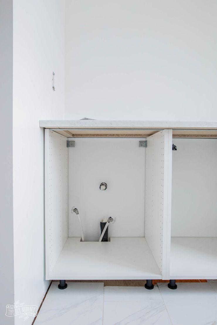 Hacking Ikea Kitchen Cabinets for a Bathroom Vanity | Ikea ...