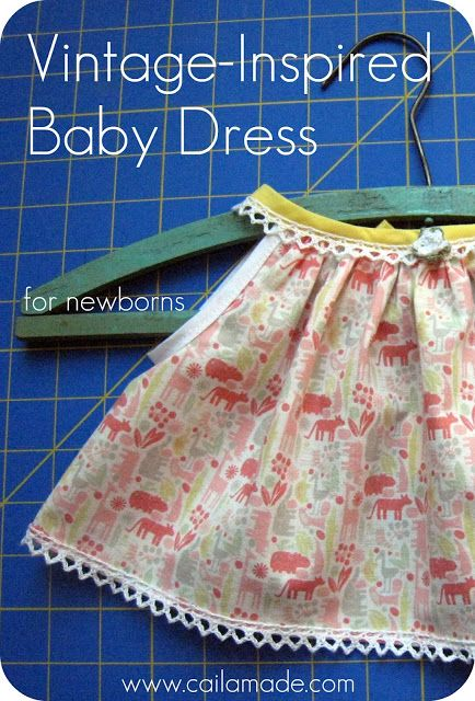 Vintage-Inspired Baby Dress {Tutorial and FREE Pattern} | SEW ...