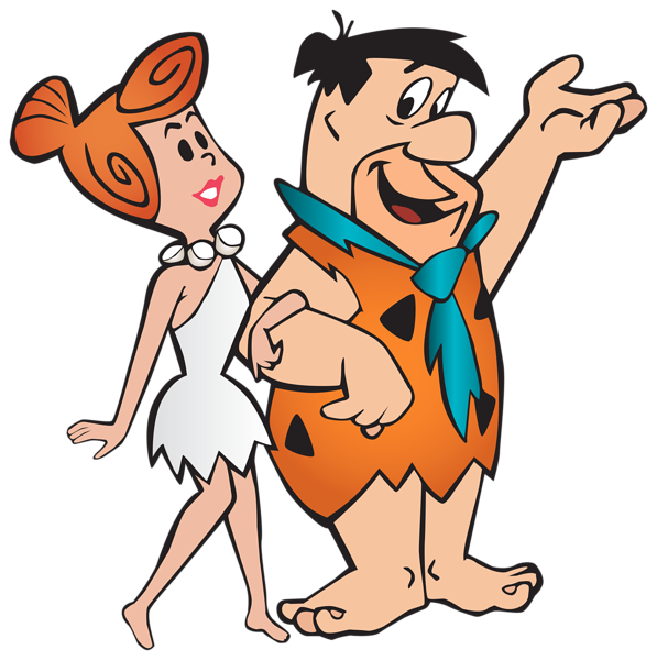 fred and wilma flintstone transparent png clip art image - Halloween Flintstones