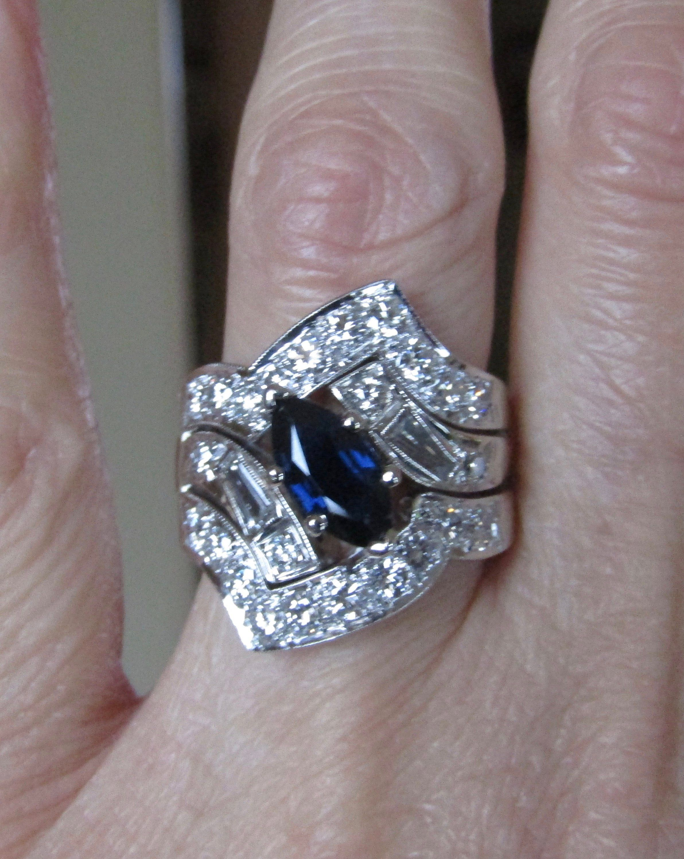 44+ Sapphire diamond wedding ring sets info