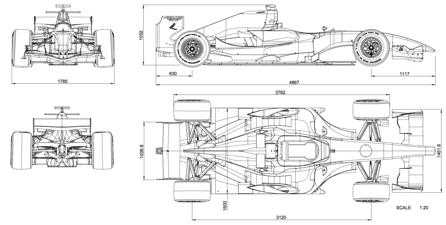 Dallara GP208 blueprint | vfvf | Pinterest