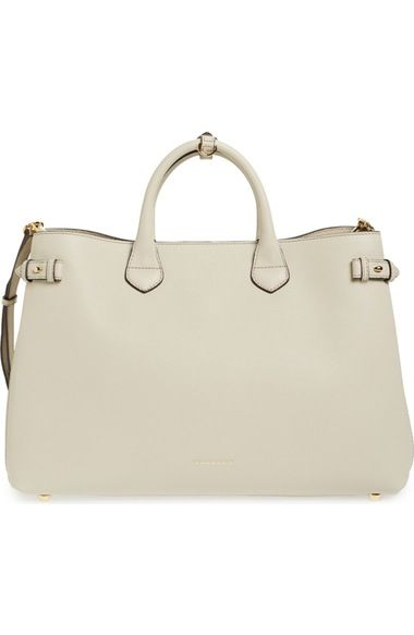 24760f9f0d Burberry 'Large Banner - Derby' House Check Calfskin Leather Tote  (Nordstrom Exclusive) available at #Nordstrom
