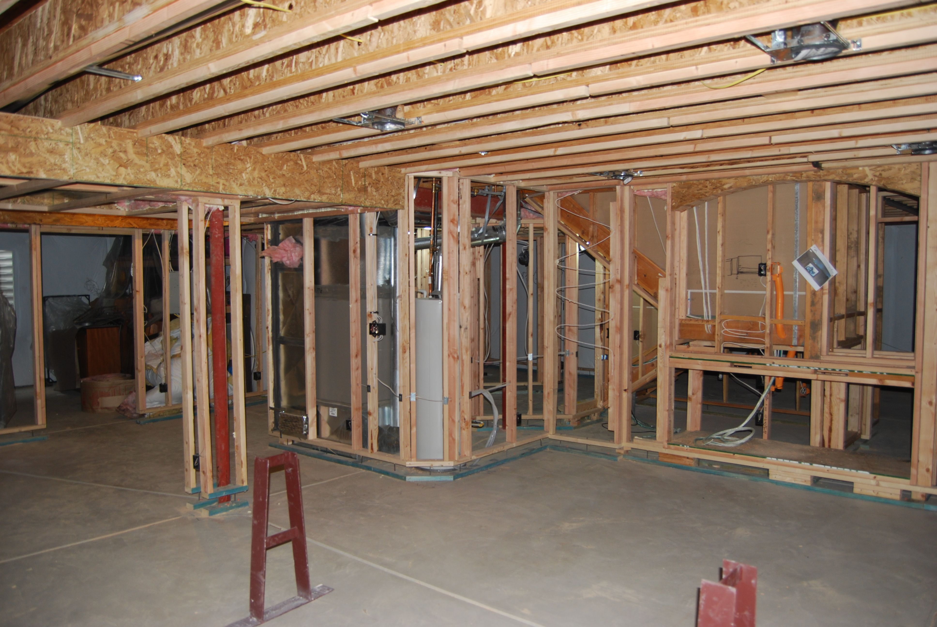 Framing a basement in Colorado. Framing a basement