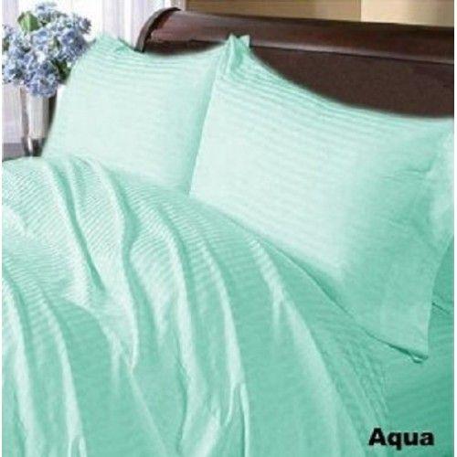 1000 TC Egyptian Cotton 8,10,12,15 Deep Pocket Egyptian Blue Solid Bedding Item