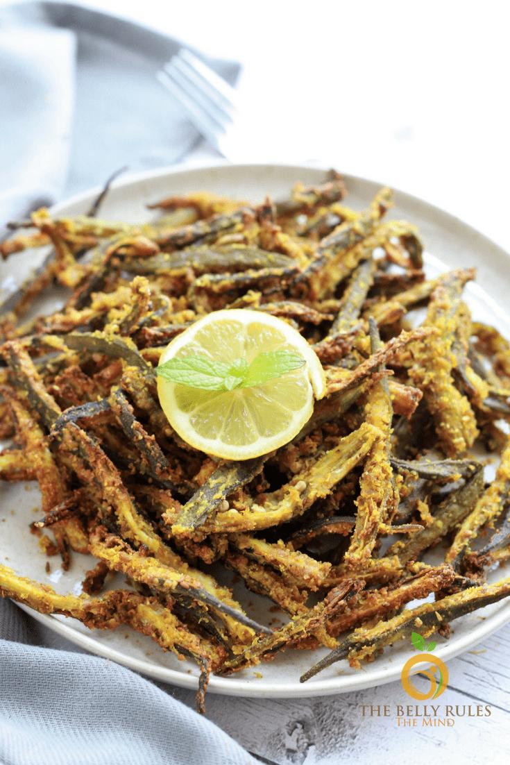 Kurkuri Bhindi / Vegan Fried Okra (Air Fried) Recipe