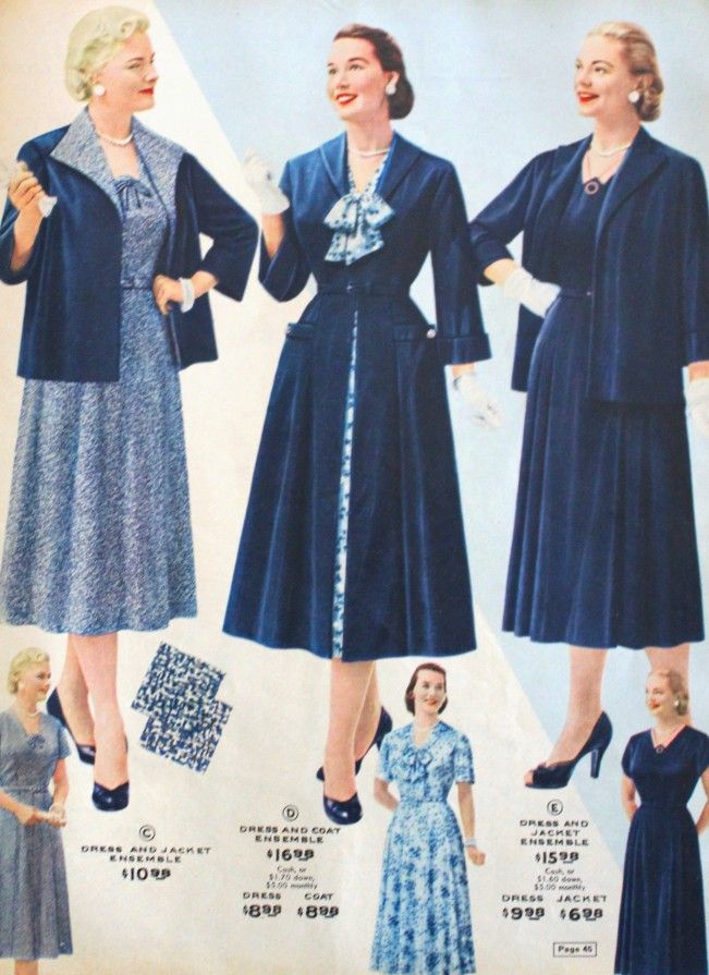0422ff97a5 1950s plus size clothing dress and coats. See more at VintageDancer.com  1950s