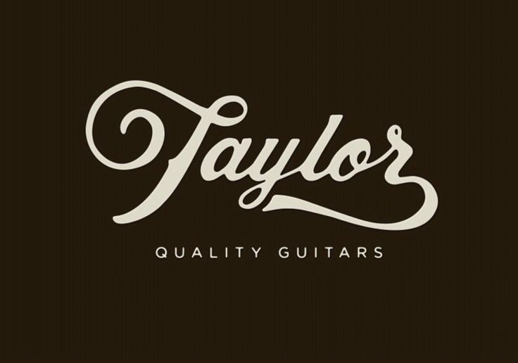 50 Inspiring Examples of Hand-lettering - Taylor quality guitars - handlettered examples