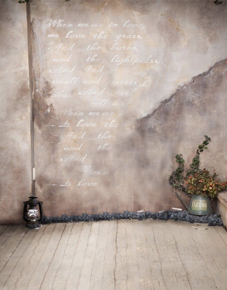 Stone Floor Flowers Photography Backdrops Photo Props Studio Background 5x7ft