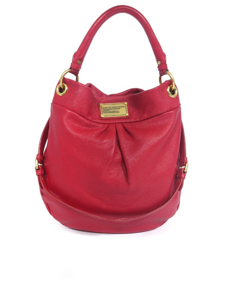 b13f2d276f6 Marc by Marc Jacobs Classic Q Hillier Hobo in red www.sabrinascloset.com