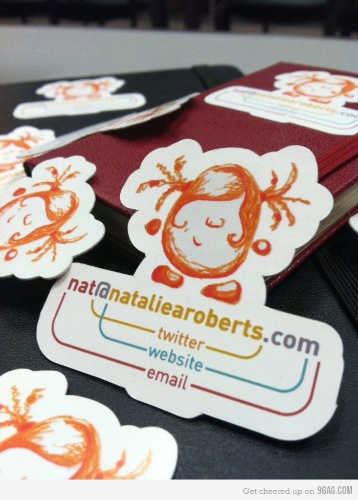 Clever business card idea business cards clever and business business card that is adorable making your own personal one is tacky yay or reheart Choice Image