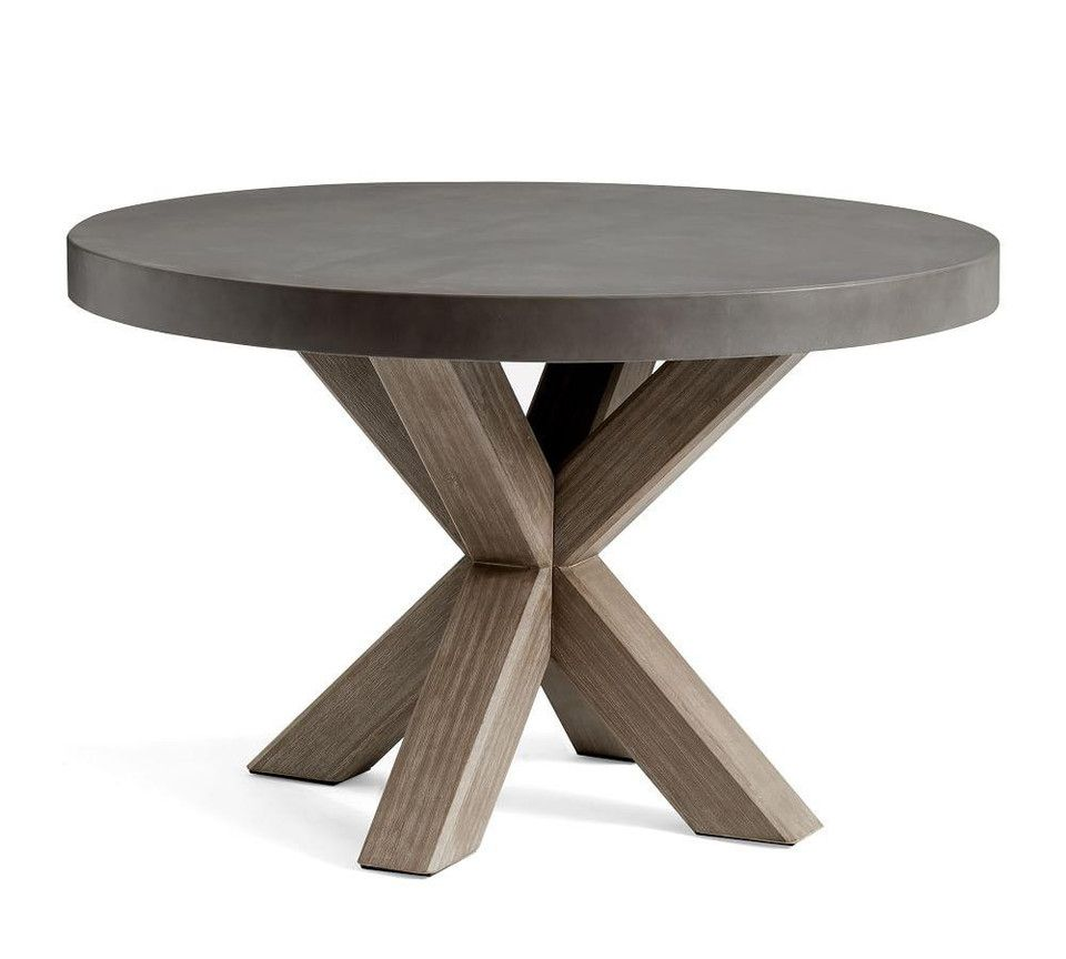 Abbott round dining table gray in 2020 round dining