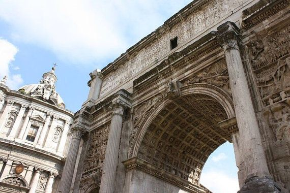 Roman Arch print on canvas by KennedyPhotographyCo on Etsy