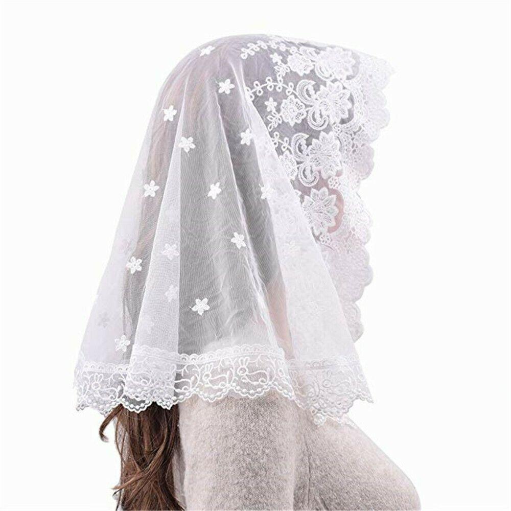 Details About White Veil Lace Mantilla Catholic Church Chapel Veil Head Covering Latin Mass Chapel Veil Church Dresses Women