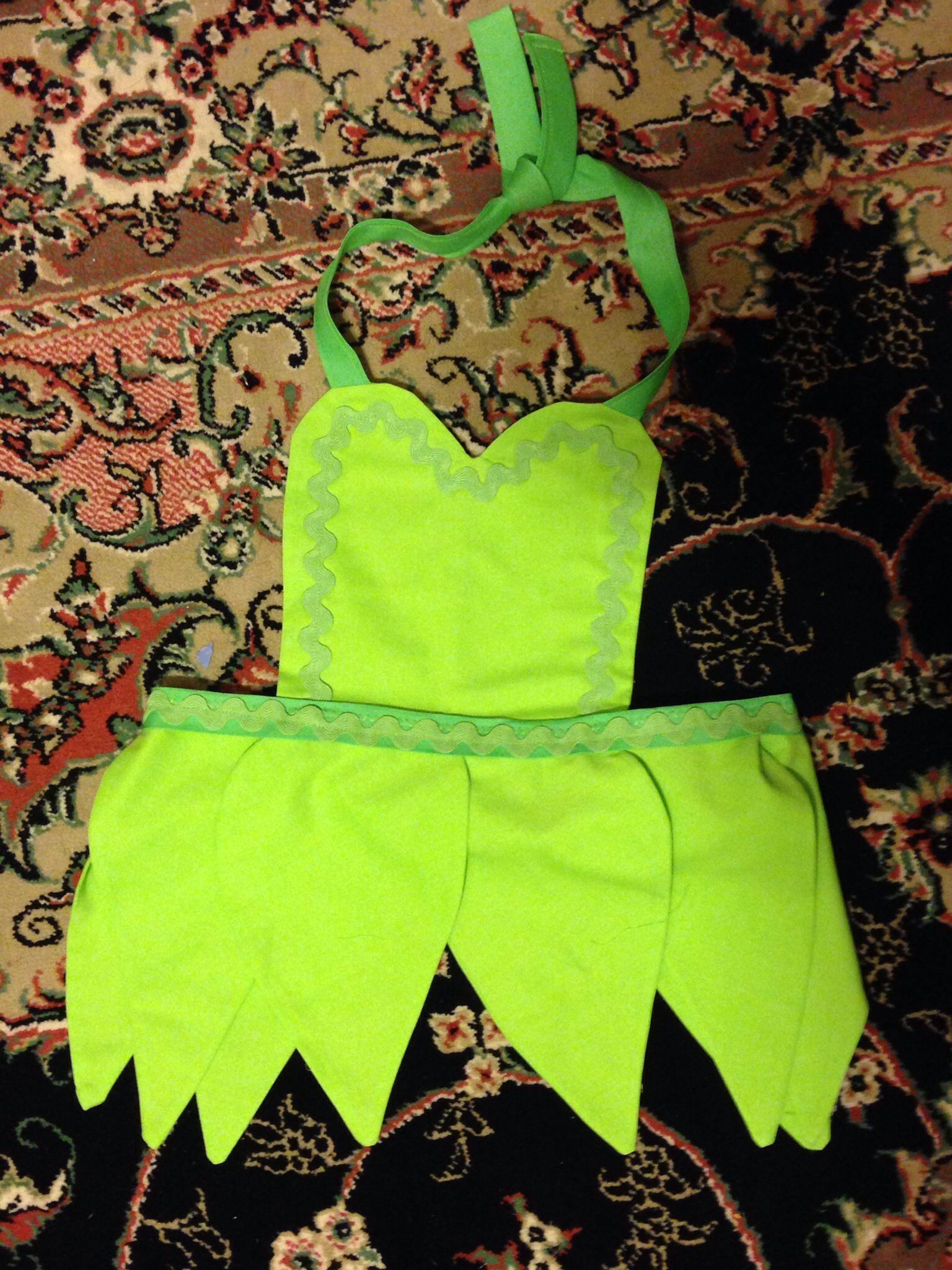 Tinkerbell dress-up apron.   Pinned it and did it!   Pinterest   Kostüm