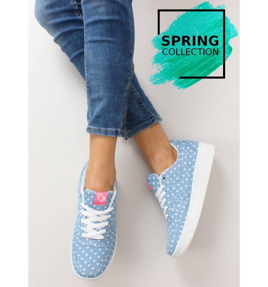 Buty Sportowe W Groszki K1630702 Lunar Sklep Immoda Pl Sneakersy I Trampki Damskie Shoes Fashion Superga Sneaker