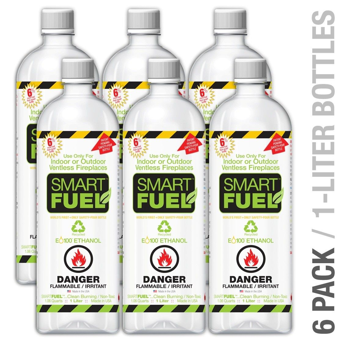 Smart Fuel Liquid Bio Ethanol Fuel Bottle Ventless Fireplace