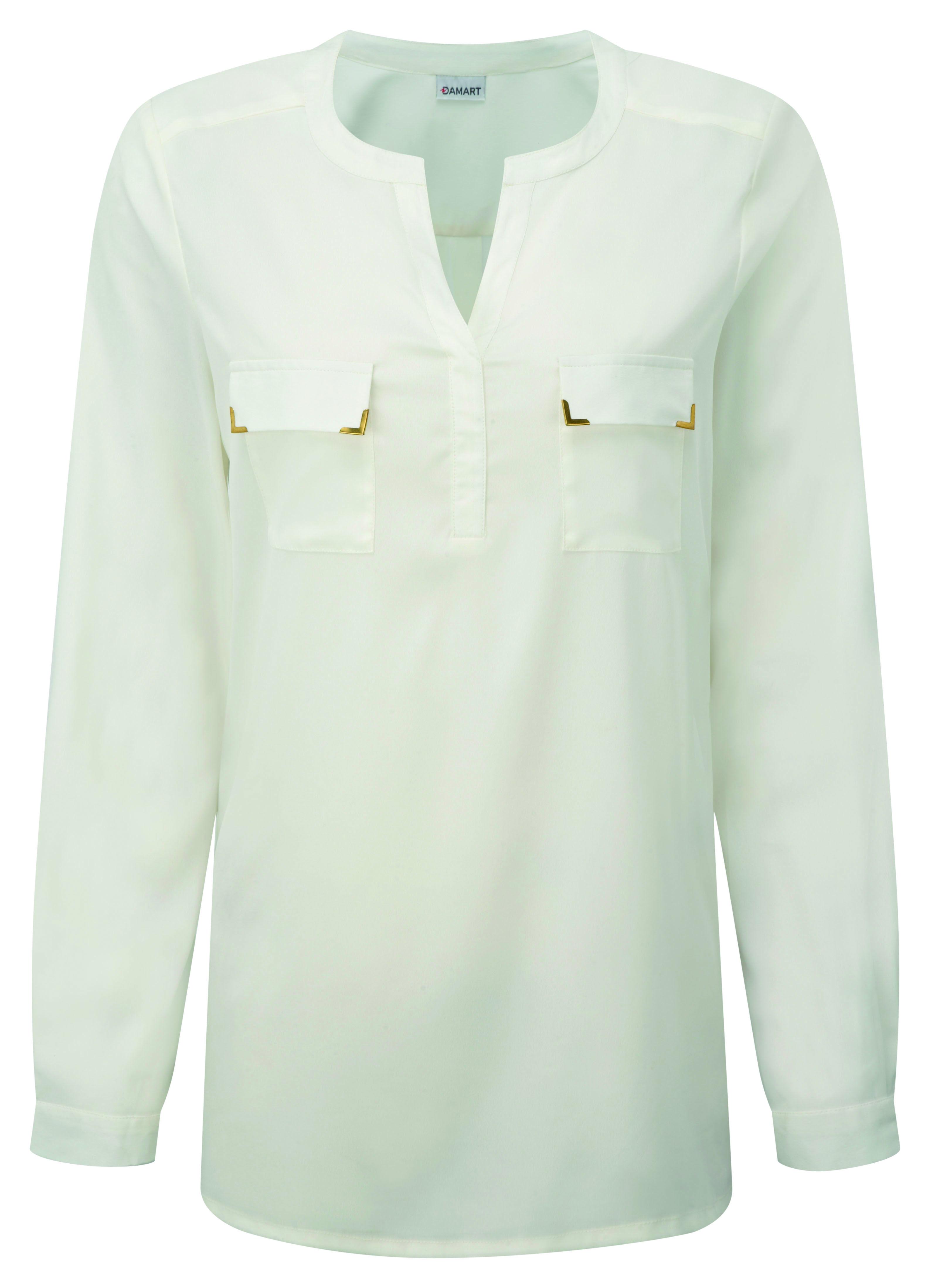 01e8f93b85 Print Tunic Blouse | SS16 | Tunic blouse, Tunic, Blouse