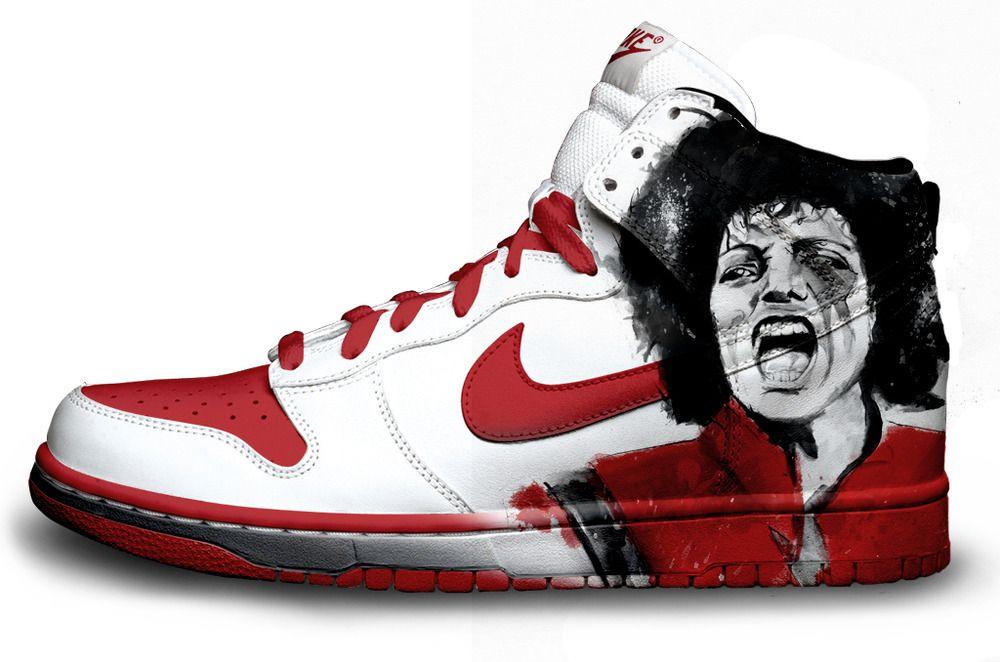Accidental Ministerio Factibilidad  Thriller - Nike | Michael jackson shoes, Custom nike shoes ...