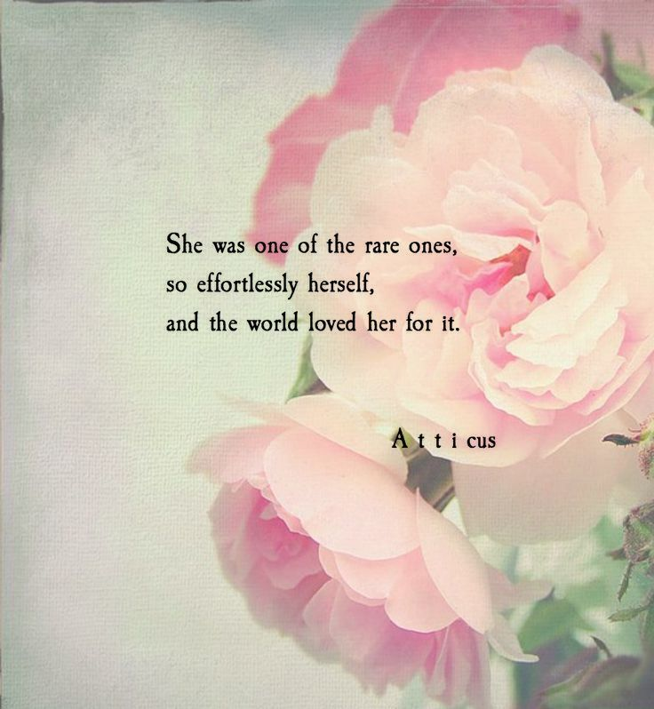 She Was One Of The Rare Ones, So Esffortlessly Herself