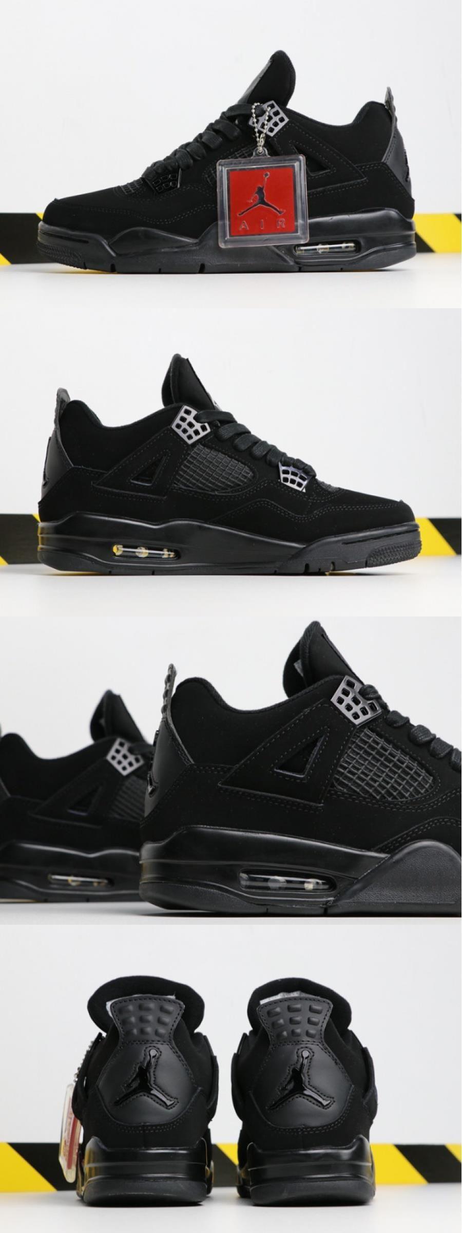 """Air Jordan 4 """"black Cat"""" 308497002 For Jordan 4 black"""