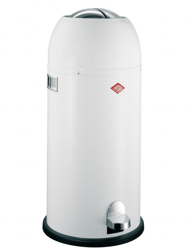 Wesco design XL Mülleimer Kickmaster Maxi 40L Treteimer Weiß