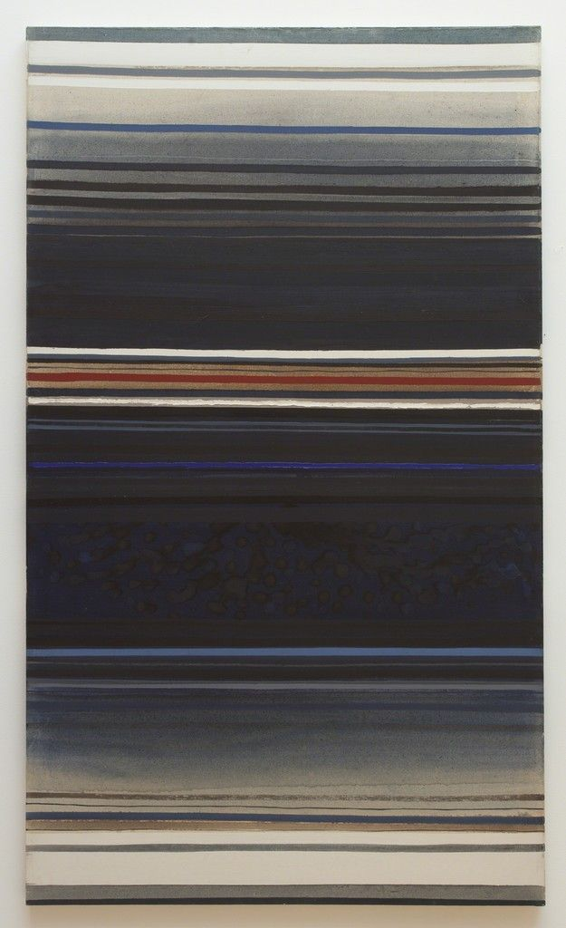 David Simpson, Red Stripe with Blue, 1961, Haines Gallery