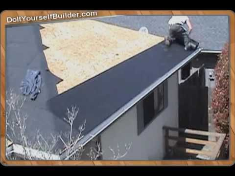Diy How To Roof A House Section 3 Of 6 Installing Felt Paper Roof Installation Roofing House Exterior