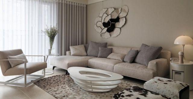 wohnzimmer-neutrale-farben-ideen-beige-grau-modern Wohnideen - wohnideen wohnzimmer farben