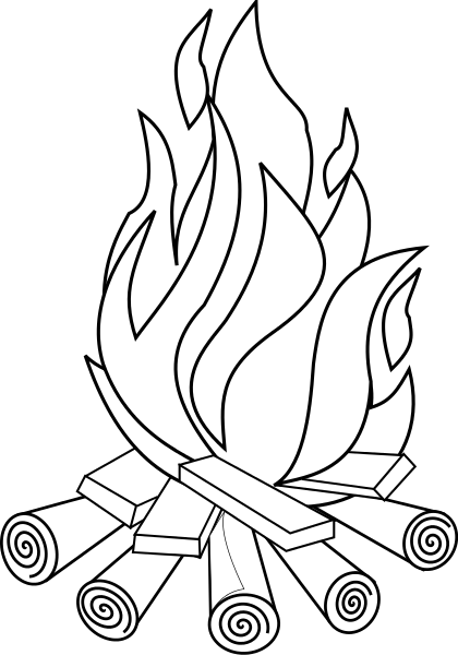 40+ Campfire Clipart Black And White