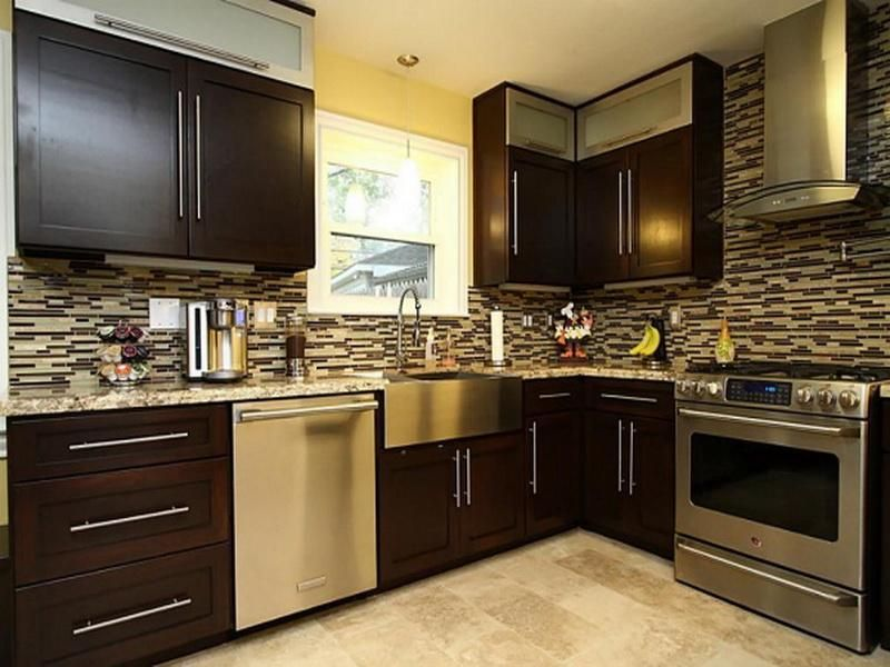 Best Dark Brown Kitchen Cabinets Modern Cabinet Designs With 400 x 300