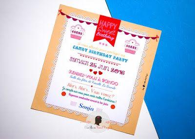 Invitation gourmande pour les 40 ans de S | Invitation, Invitation anniversaire 40 ans, Carte ...