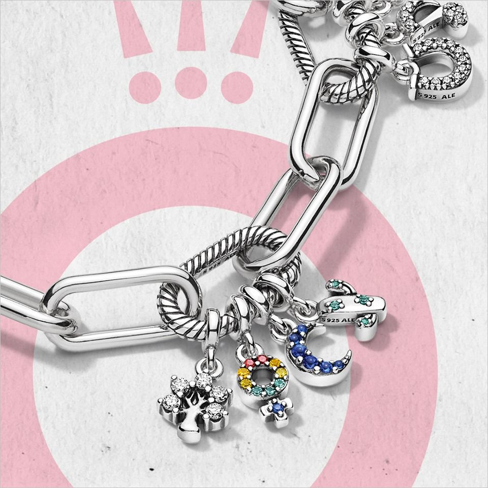Pandora Me link bracelet + Micro dangle charms = Your new go-to ...