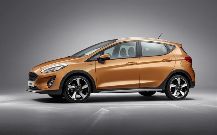 Lataa kuva Ford Fiesta, 2018, Farmari, uusi Fiesta, kulta Fiesta, Amerikkalaisten autojen, Ford