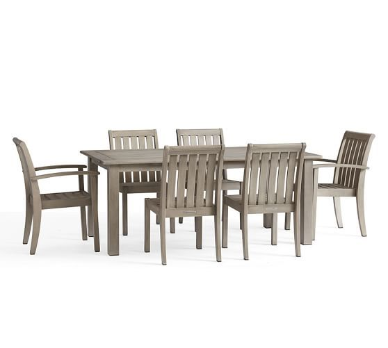 Chatham Butterfly Extension Table Amp Amp Chair 7 Piece Dining Set Gray Outdoor Dining Furniture Patio Dining Furniture Dining Furniture