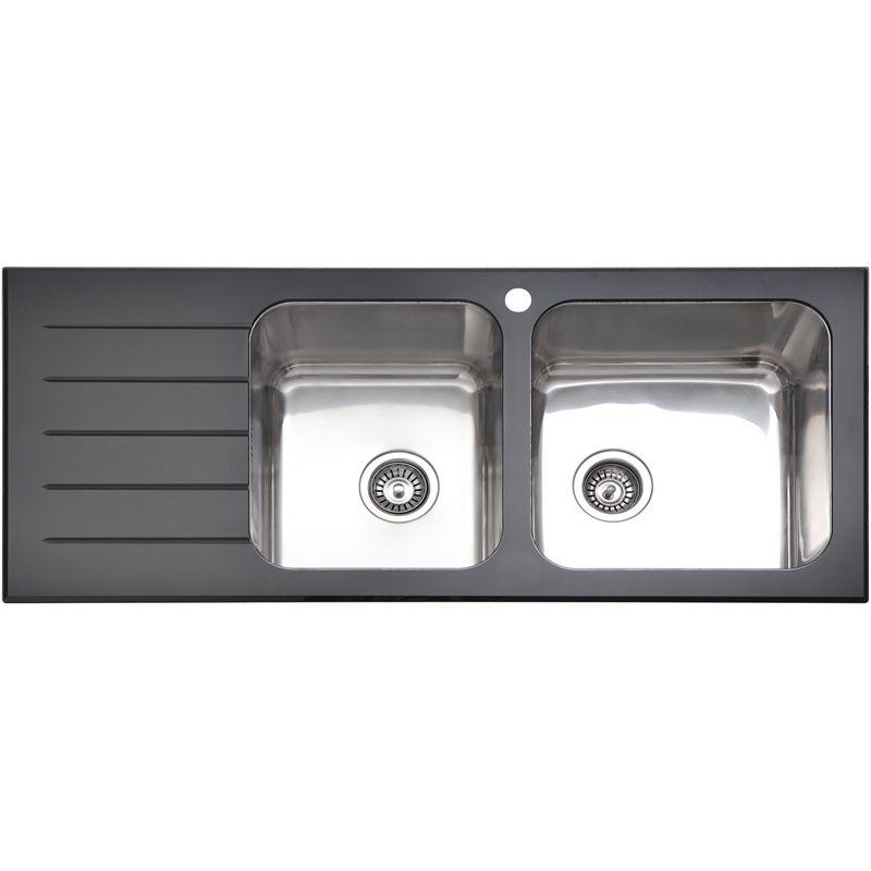 Sink Monda 1 3/4 Black Glass Rh 405573 I/N 5110345