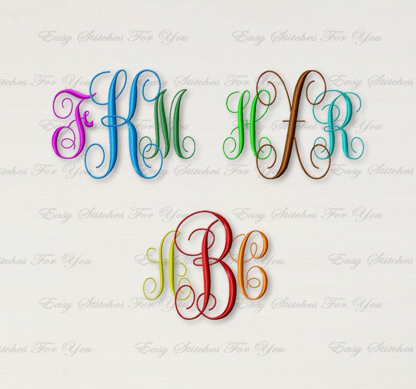 BOGO FREE! Vine Monogram Font embroidery design, Font Machine ...